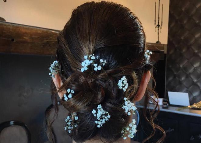 Coupe de cheveux chignon pour mariage à Seclin